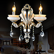Crystal Candle Wall Lights , Traditional/Classic E12/E14 Metal