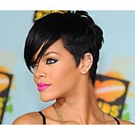 mode sort 1b farve kort straight kvindes syntetiske parykker hår FREEForsendelse