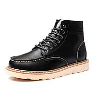 מגפיים גברים של נעליים שטח / קז'ואל / מסיבה וערב עור שחור / חום / בורגונדי