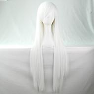 安価な製品合成かつらロリータアニメウィッグコスプレ髪は80センチメートル長いストレートかつらをかつら