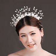 Women Rhinestone/Brass/Imitation Pearl Tiaras/Head Chain With Crystal/Imitation Pearl/RhinestoneWedding/Party