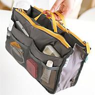 Meikkien säilytys Meikkilaukku / Meikkien säilytys Polyesteri Yhtenäinen 30*8.5*18.5Musta Fade / Grey Gradient / Ruskea / Harmaa / Hopea
