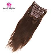 20 tuuman 7pcs 95g / set salainen stylisti au 100% Intian ihmisen hiukset leikkeen hiusten pidennys