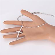 Žene Choker oglice Ogrlice s privjeskom Lančići Izjava Ogrlice Vintage ogrlice Platinum Plated Pozlaćeni Legura Cross Shape ModaPink