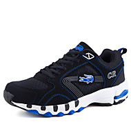 Men's Shoes Casual/Outdoor/Runing Fashion Suede Leather Shoes Black red/Black bule/Black Light blue