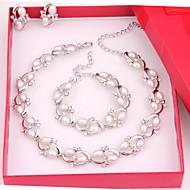 女性用 人造真珠 コスチュームジュエリー 合金 ネックレス イヤリング・ピアス ブレスレット 用途 結婚式 パーティー 誕生日 婚約 日常 ウェディングギフト