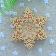 Snowflakes Shape Soap Mold  Fondant Cake Chocolate Silicone Mold, Decoration Tools Bakeware
