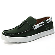 Men's Shoes Outdoor / Casual Suede Boat Shoes Blue / Green / Gray