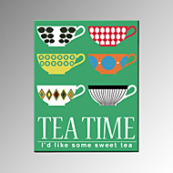 VISUAL STAR®Tea Time Wall Poster Office Decor Stretched Canvas Painting Art