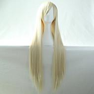 nueva Bleach Anime cosplay rubia recta larga peluca de pelo 80cm