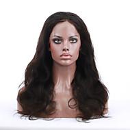 2015 top sælger 8 '' - 24 '' populære bølge jomfruelige indiske menneskehår parykker blonder foran parykker med Baby hår for sorte kvinder