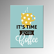 VISUAL STAR®Coffee Time Wall Poster Restaurant Decor Stretched Canvas Painting Art Ready to Hang