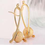 May Polly Gold plated drop BEADS LONG EARRINGS