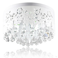 Flush Mount Light Crystal White Hollow Talla moderno simple