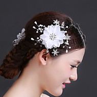 Women Rhinestone/Imitation Pearl/Chiffon Flowers With Crystal/Imitation Pearl/Rhinestone Wedding/Party Headpiece