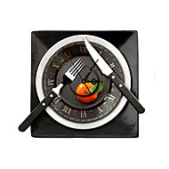 PAG®Morden 3D Effect Tableware Wall Clock 13.7*15.7 inch / 35*40 cm