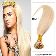 הארכת שיער היתוך 100% הארכת שיער אמיתי מראש מלוכדות שיער ישר אני להטות תוספות שיער שיער צבע מקל מרובה