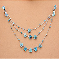 Fashion Butterfly Alloy Princess Hair Chain(White,Red,Purple,Blue)(1Pc)