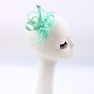 Handmade Small Sinamay Feather Brooch Fascinators Clip Headpiece (more colors)