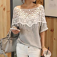 Women's  Casual Sexy  Cute  lace   Blouse  (Cotton )