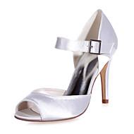 Sandály - Satén - S otevřenou špičkou - Dámská obuv - Černá / Modrá / Fialová / Slonovinová / Bílá / Stříbrná / Champagne -Svatba / Běžné