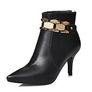 נעלי נשים - מגפיים - דמוי עור - שפיץ / מגפי אופנה - שחור / בז' / כתום - שמלה / קז'ואל - עקב סטילטו