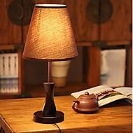 bordslampor trä duk 220v Art American enkla land modern dimbar