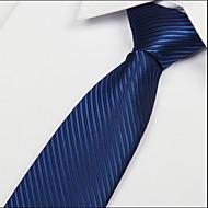 Royal Blue Oblique Striped Jacquard Arrow Men Necktie Tie