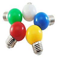 1W E26/E27 Lâmpada Redonda LED G45 5 SMD 2835 350 lm Branco Natural / Vermelho / Azul / Amarelo / Verde Decorativa AC 220-240 V 1 pç
