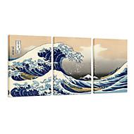 visuaalinen star®canvas sarja 3 suuri aalto pois Kanagawa Katsushika Hokusai galleriaan kankaalle seinälle
