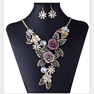 MISSING U Women Vintage / Party Rose Gold Plated / Alloy / Rhinestone Necklace / Earrings Jewelry Sets