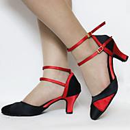 Na zakázku - Dámské - Taneční boty - Moderní - Satén - Podpatek na míru - Černá