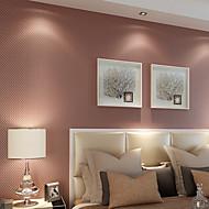 Contemporary Wallpaper Art Deco 3D Solid Color Wallpaper Wall Covering Non-woven Fabric Wall Art