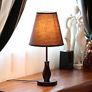 bordslampor trä duk 220v Art American enkla land modern