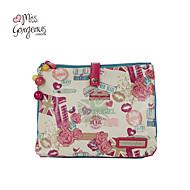 miss smukke kvinder poser blomst kærlighed kiss print dame rejser kosmetiske pose opbevaringsboks makeup håndtasker