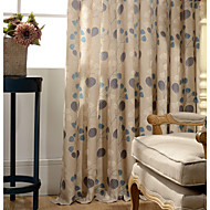 Country Curtains® One Panel Leaf Cotton Linen Printing Curtain