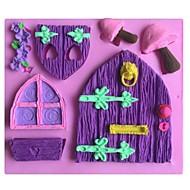 Huset soppformet  kake sjokolade silikon Form Form, dekorasjon verktøy bakeredskap