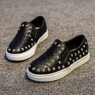 Baby Shoes Outdoor/Casual Faux Leather Loafers Black/Silver