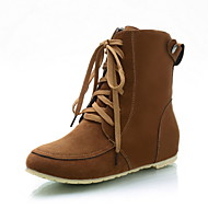 Women's Boots Spring / Fall / Winter Others Fleece Party & Evening / Dress / Casual Flat Heel Buckle / Lace-up Black / Brown / Green /