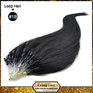 """16 """"-24"""" Brazilský lidské vlasy 100s micro smyčka prodlužování vlasů rovné vlasy # 1b, # 2, # 8, # 33, # 613 v zásobách"""