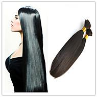 3Pcs/Lot Bulk Braiding Hair Virgin Straight Bulk Hair 100% Unprocessed Brazilian Wholesale Bulk Hair Extensions