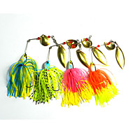 "4pcs pcs Iscos Rotativos / Iscas Iscas Buzzbait & Spinnerbait Others 19.5g g/3/4 Onça mm/2-3/4"" polegada,Metal / Plástico Duro / Silicone"