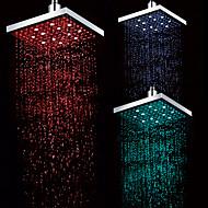 Rubinetto doccia Contemporaneo LED/Doccia a pioggia ( Cromo )