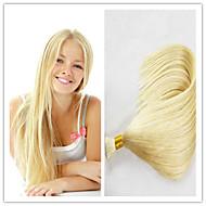 """Pas cher en vrac cheveux 3pcs / lot d'usine de cheveux Blond Blond vrac de couleur péruvien 613 longueur droite 14 """"-32"""""""