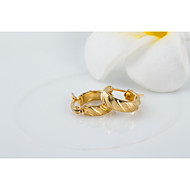Women's Small Classic Gold Plated Hoop Earrings