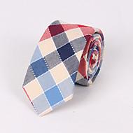 Gravatas ( Azul/Rosa/Vermelho , Algodão ) Grade