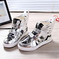 Girls' Shoes Outdoor/Casual Comfort/Round Toe/Closed Toe Leatherette Fashion Sneakers Silver/Gold
