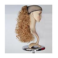 uitstekende kwaliteit synthetische honing blonde lang krullend klauw paardenstaart haarstukje
