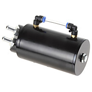 Round Billet Aluminum 750ML Black Racing Engine Oil Catch Reservoir Tank/CAN