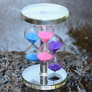 Three Color Crystal Glass Hourglass  Crafts Home Furnishing Ornaments